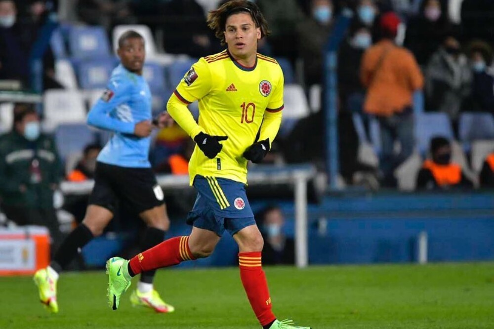 Juan Fernando Quintero, en el partido Uruguay vs. Colombia