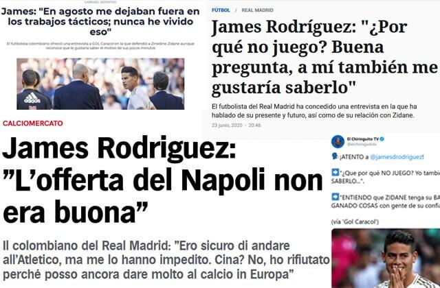 339617_Titulares sobre las declaraciones de James Rodríguez