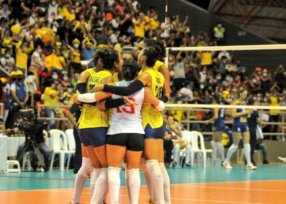Selección Colombia de voleibol femenino derrotó a Brasil Foto MinDeporteCol.jpg