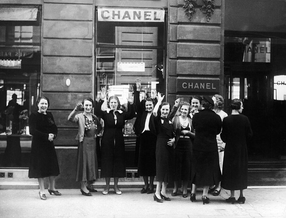 Strike In Chanel Fashion House From Paris