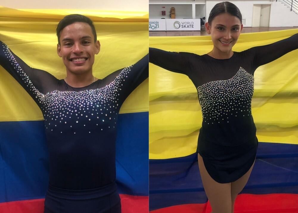 Brayan Carreño campeón y Carolina Báez medalla de bronce Foto OlimpicoCol.jpg