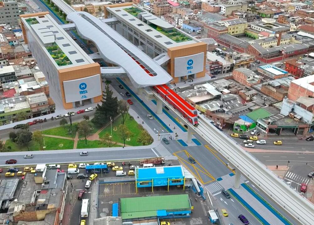 Render del proyecto Metro de Bogotá // Imagen: Metro de Bogotá