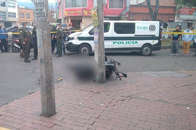 Balacera en Bogotá barrio Restrepo