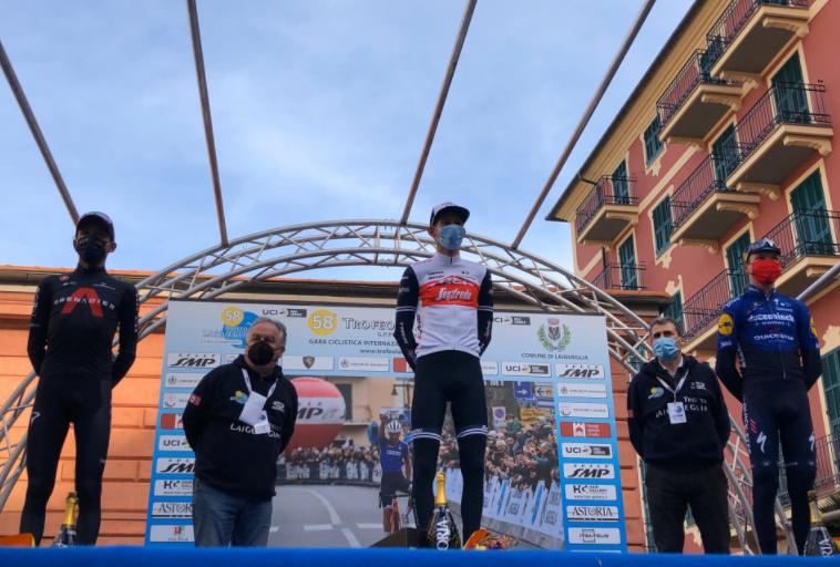 Egan Bernal fue segundo en el Trofeo Laigueglia.