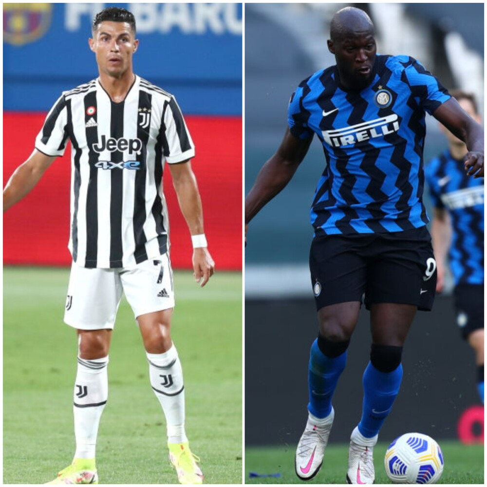 Cristiano Ronaldo y Romelu Lukaku, exjugadores de Juventus e Inter de Milán..jpg