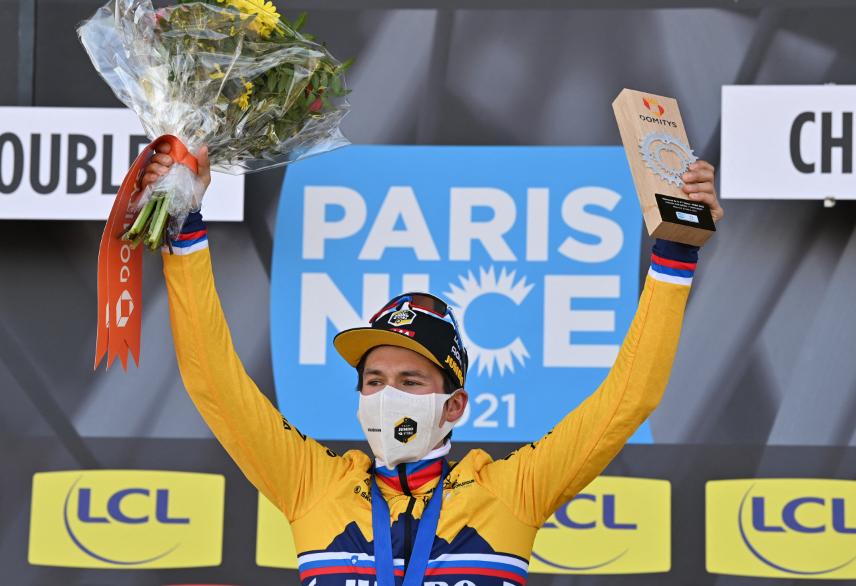 Primoz Roglic tomó el liderato de la París-Niza tras la etapa 4.
