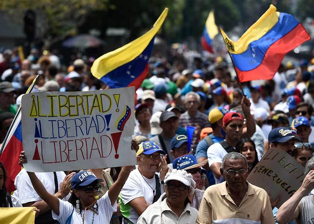 333156_BLU Radio // Marchas en Venezuela // Foto: AFP