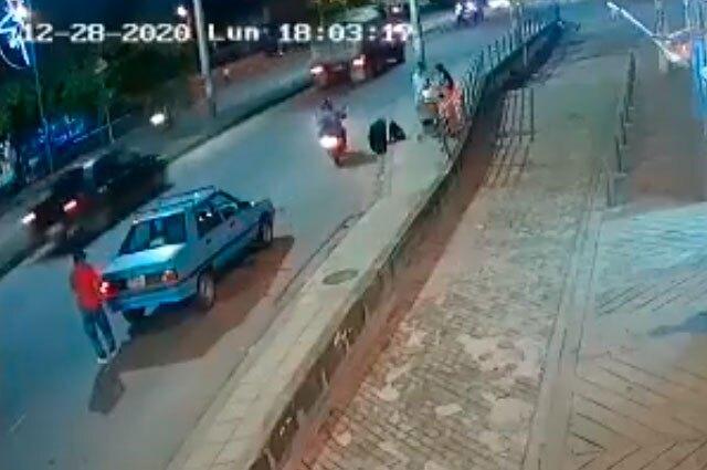 Accidente motociclista en Santander