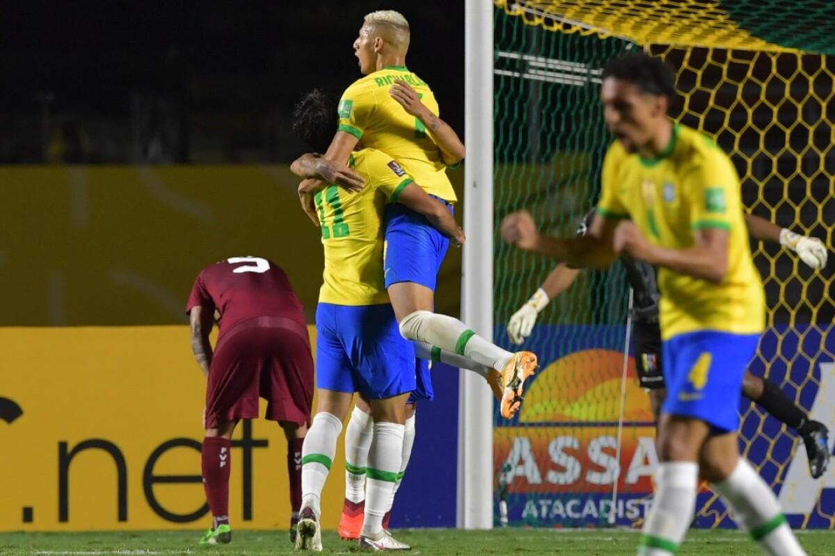 Brasil 1- Venezuela 0: La 'canarinha' ganó con lo justo y es líder de las Eliminatorias Sudamericanas