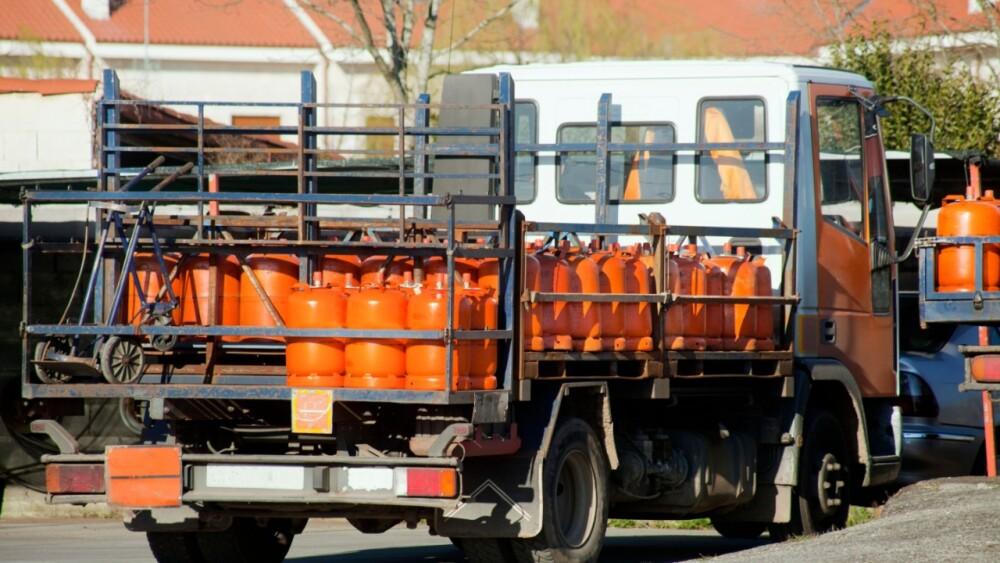 Camión que transporta Gas Licuado de Petróleo (GLP).
