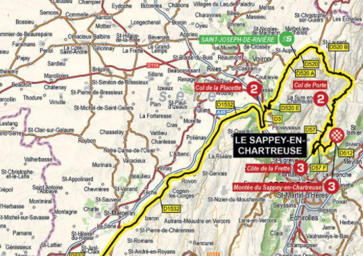 Así será la etapa 6 del Critérium del Dauphiné 2021.