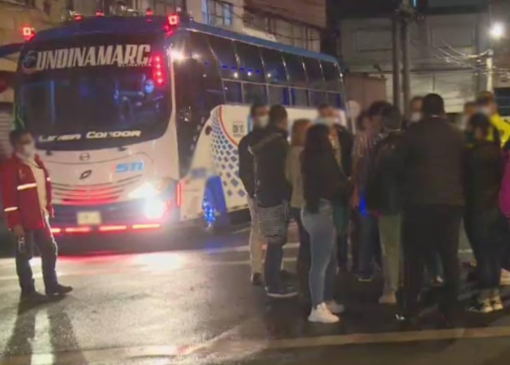 Víctimas de atraco masivo en la autopista Norte de Bogotá