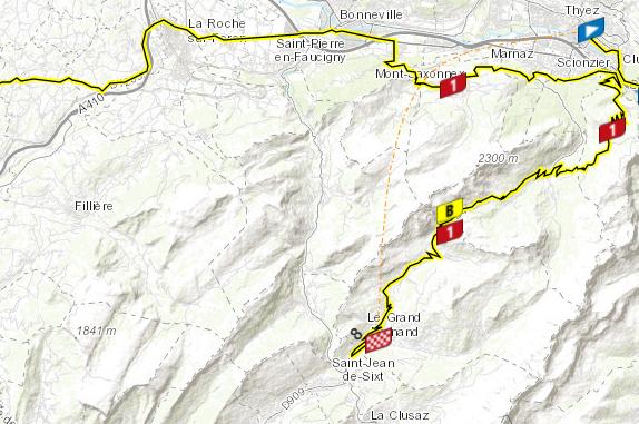 Así será la etapa 8 del Tour de Francia.
