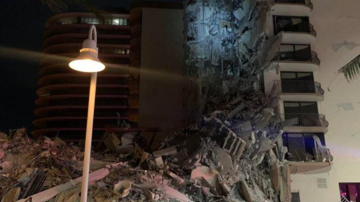 Aparece video que muestra escombros y agua en garaje antes del colapso de edificio en Miami