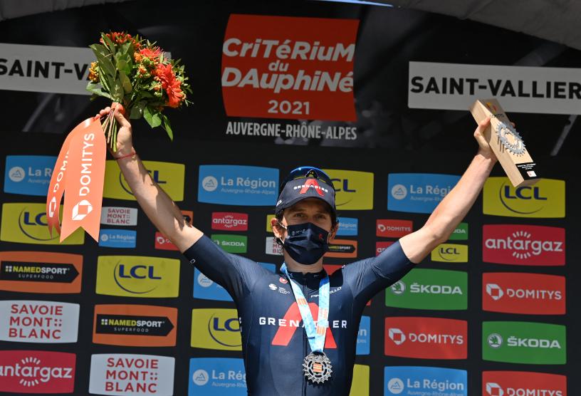 Geraint Thomas fue el ganador de la etapa 5 del Critérium del Dauphiné.
