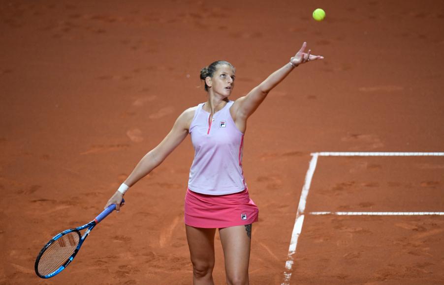 Karolina Pliskova hizo 21 saques directos en un solo partido sobre tierra batida.