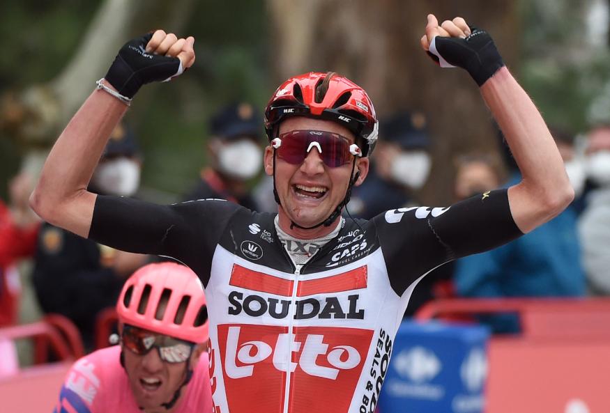 Tim Wellens, ganador de la etapa 14 de la Vuelta a España 2020.