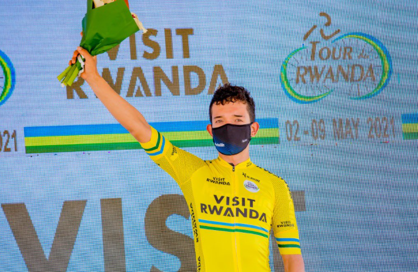 Brayan Sánchez es líder del Tour de Ruanda tras la etapa 4.