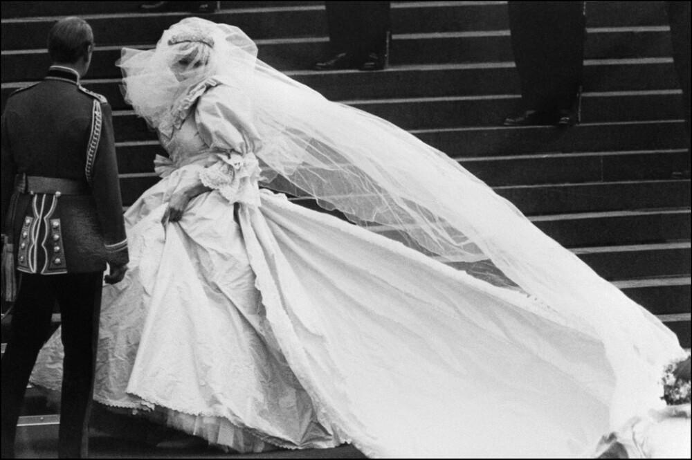 Princesa Diana de Gales el día de su boda