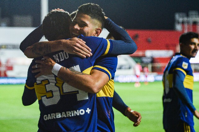 Jorman Campuzano, en Boca Juniors contra Unión