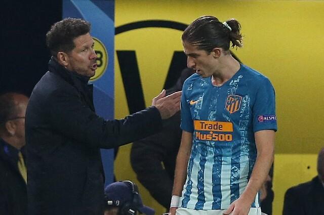 Filipe Luis y Diego Simeone