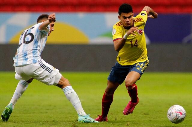 Luis Díaz, en la Selección Colombia