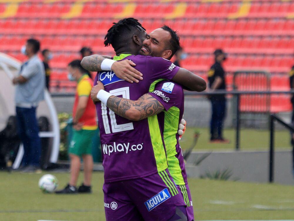 Juan Moreno y Cristian Vargas, porteros de Millonarios..jpeg