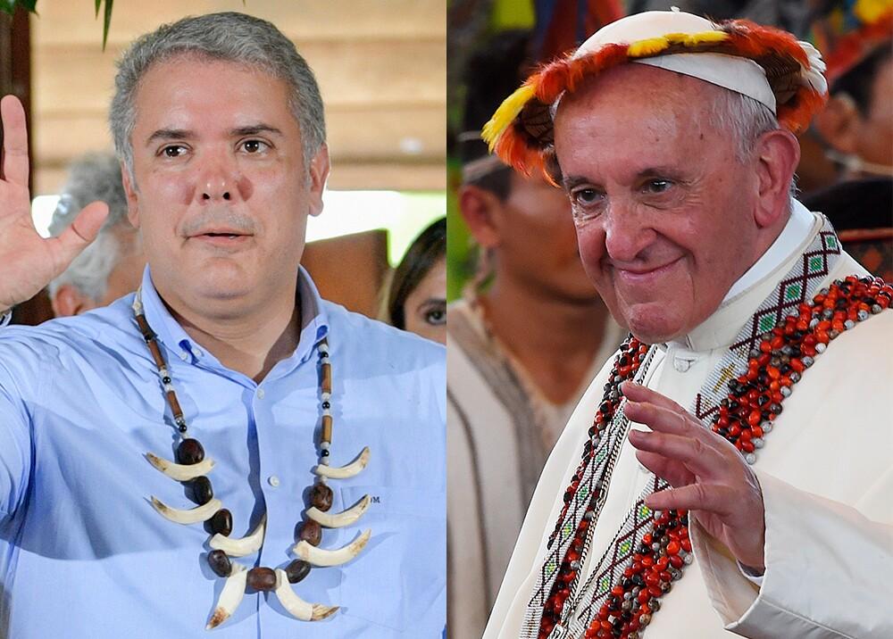 345646_Iván Duque y el papa Francisco // Fotos: AFP