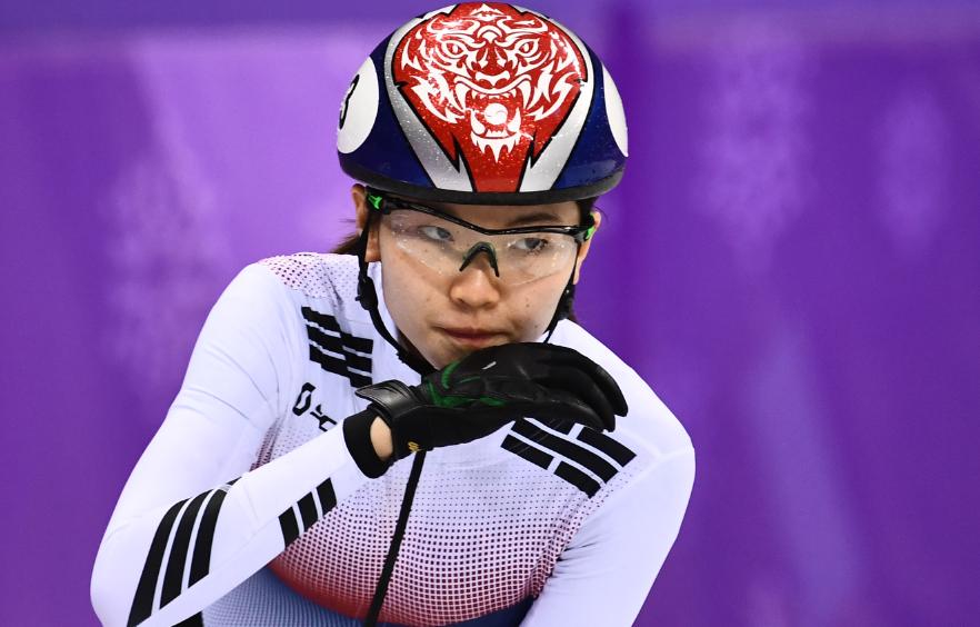 Shim Suk-hee, dos veces campeona olímpica de patinaje 'short-track'.
