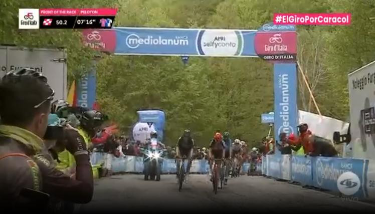 Premio de montaña en Bocca Della Selva etapa 8 Giro de Italia