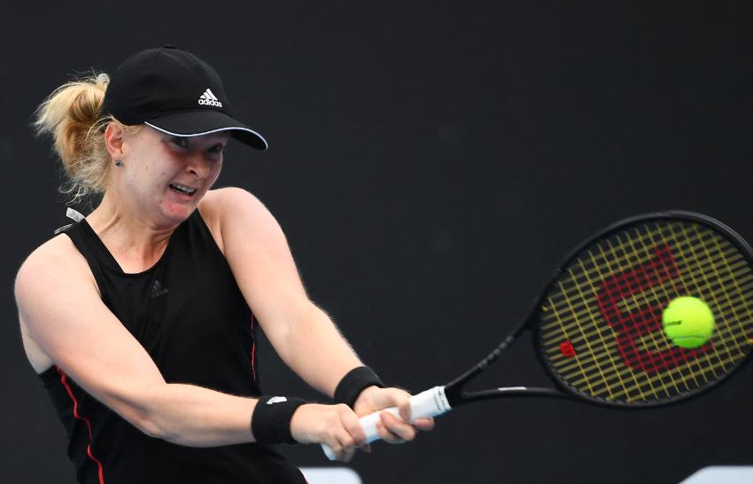 Francesca Jones jugó su primer Abierto de Australia.