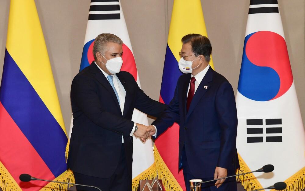 Acuerdos que firmaron Iván Duque y el presidente de Corea del Sur