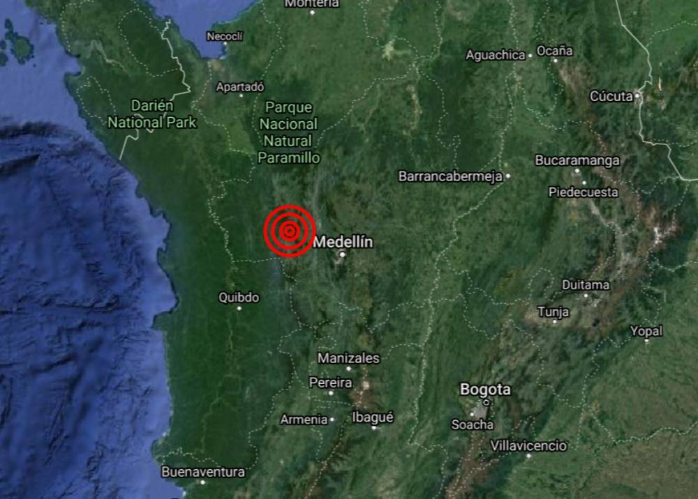 Temblor en Urrao, Antioquia
