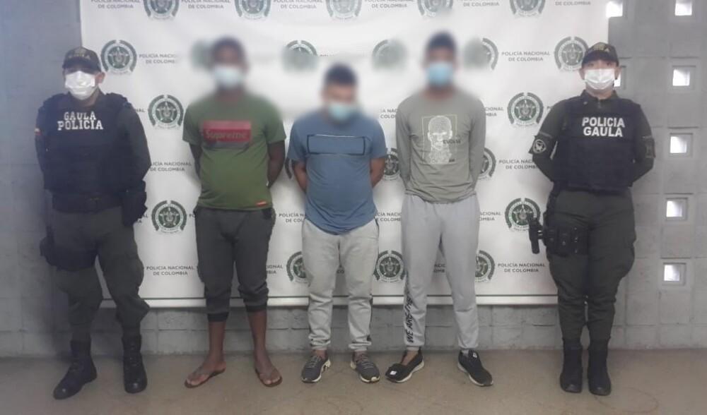 Presuntos responsables del secuestro del hijo del exalcalde de Caldas, Antioquia.jpg