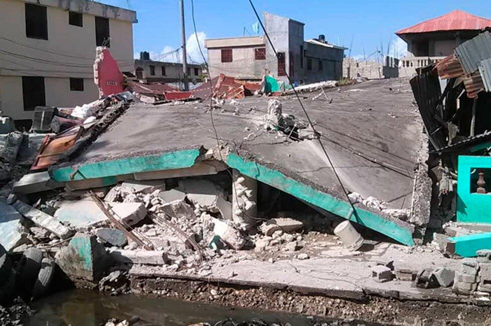 ´Destrucción tras terremoto en Haití