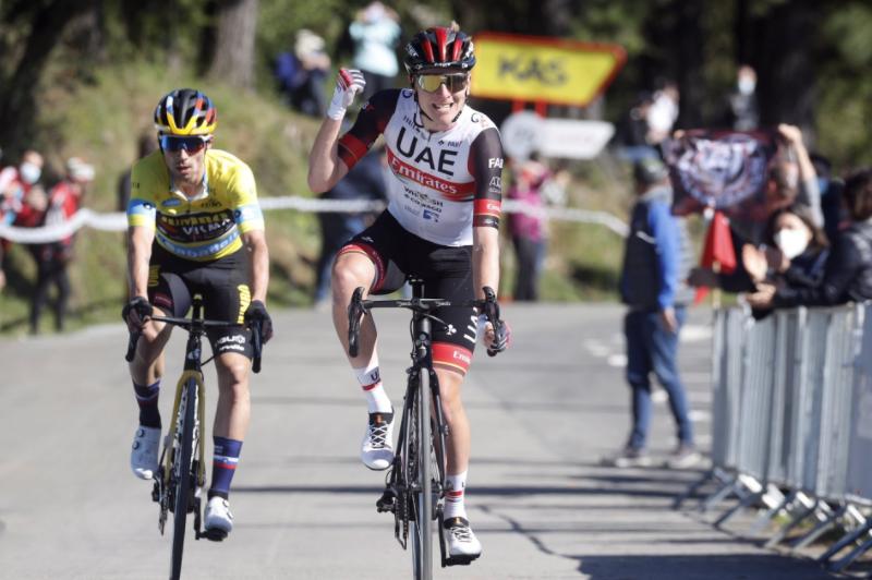 Tadej Pogacar ganó la etapa 3 de la Vuelta al País Vasco.