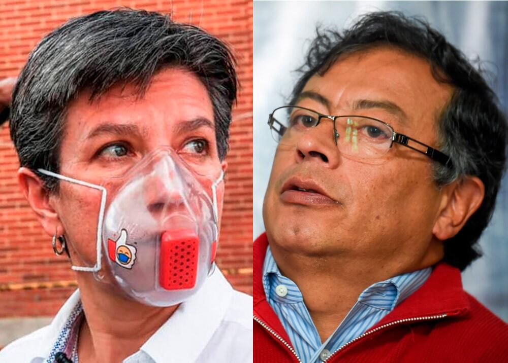 370864_Claudia López y Gustavo Petro // Fotos: Alcaldía de Bogotá - AFP