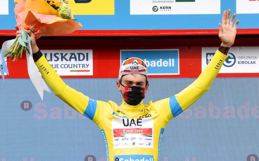 Brandon McNulty es el líder de la Vuelta al País Vasco. Getty Images