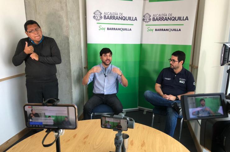 359537_BLU Radio // Rueda de prensa virtual Jaime Pumarejo // Foto: Alcaldía de Barranquilla
