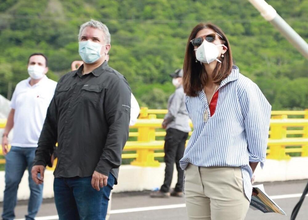 371760_Presidente Iván Duque y la ministra de Transporte, Ángela María Orozco // Foto: MinTransporte