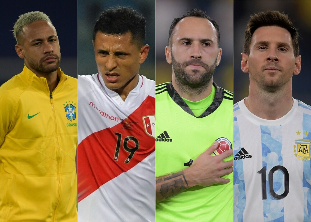 Selecciones de Brasil Perú Colombia y Argentina Foto AFP.jpg