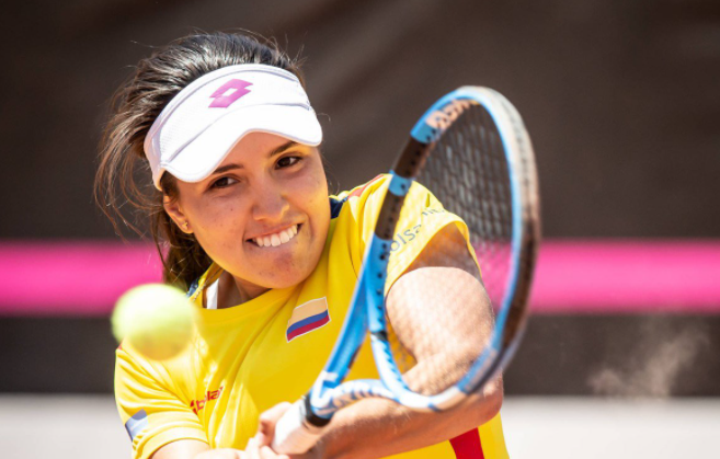 Camila Osorio fue eliminada en la primera ronda del tenis de los Juegos Olímpicos.