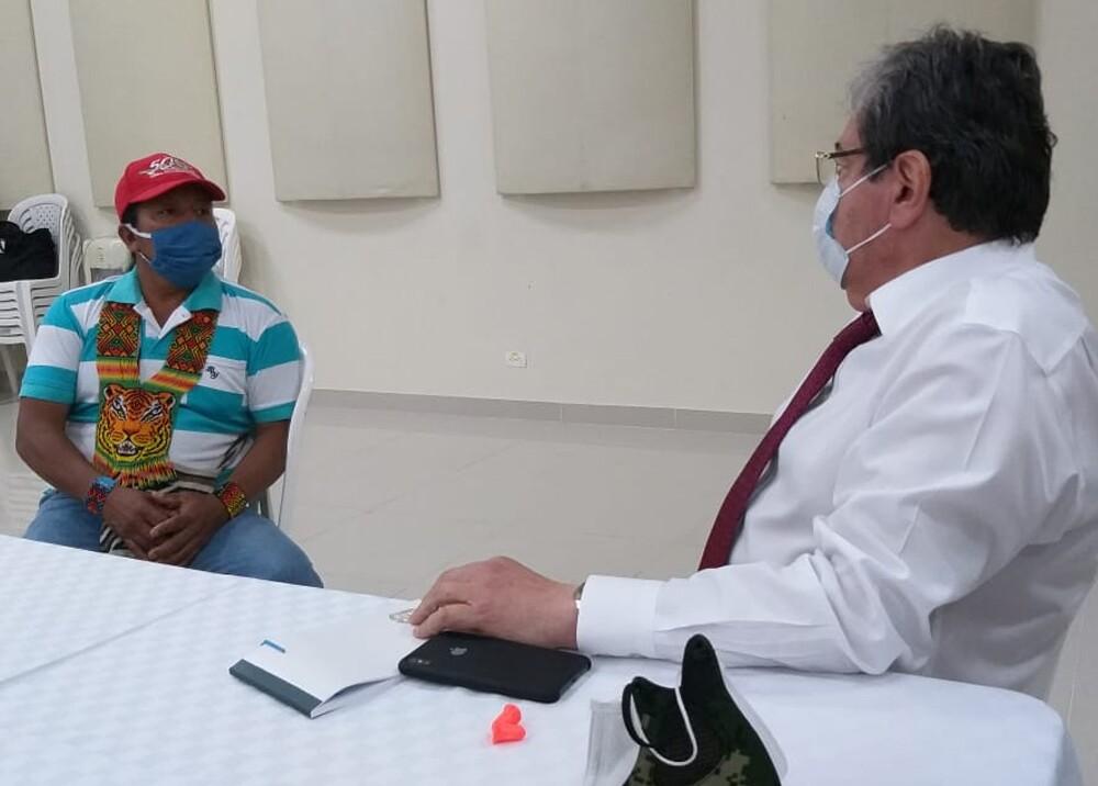 Mindefensa en reunión con Feliciano Valencia.