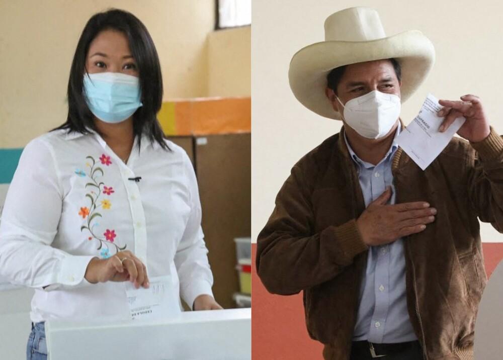 Keiko Fujimori y Pedro Castillo Foto AFP.jpg