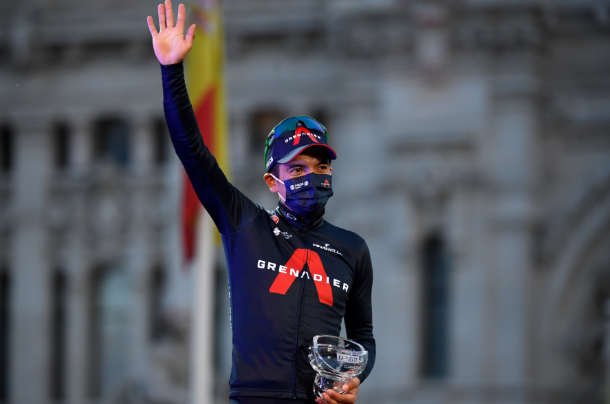 Richard Carapaz, subcampeón de la Vuelta a España 2020.