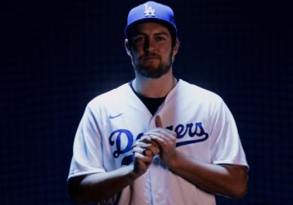 Trevor Bauer, jugador de los Dodgers de Los Ángeles.