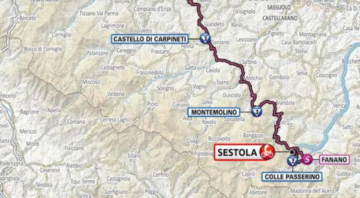 Así será la etapa 4 del Giro de Italia 2021.