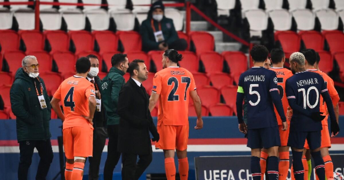 PSG vs Istanbul, suspendido luego de un supuesto insulto racista del cuarto árbitro