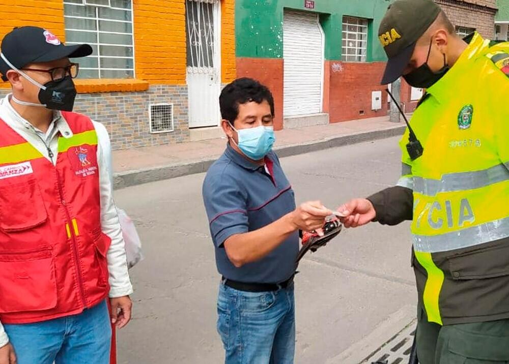 370012_Controles durante la pandemia en Soacha // Foto: Facebook Alcaldía de Soacha