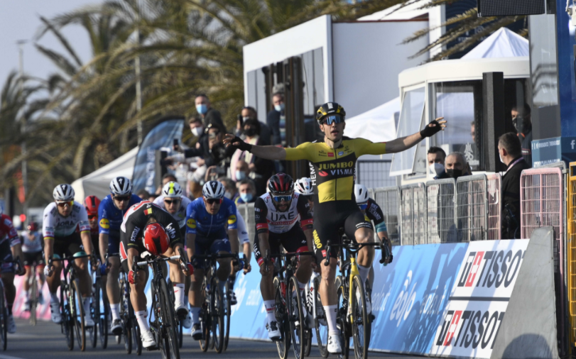 Wout Van Aert ganó la etapa 1 de la Tirreno-Adriático